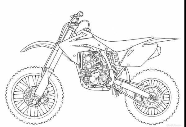 dirt bike coloring page # 72