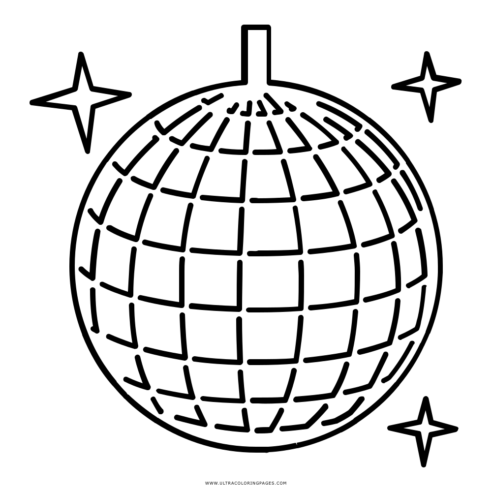 hight resolution of 1000x1000 disco ball coloring page