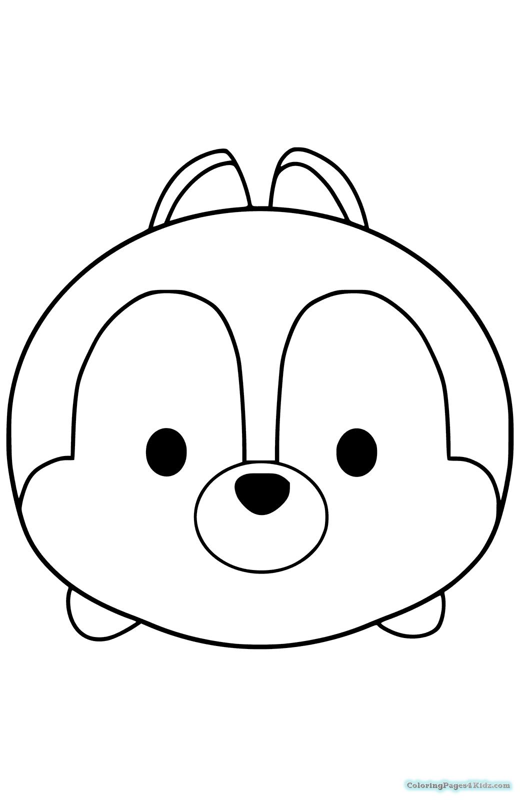 Disney Tsum Tsum Coloring Pages At Getdrawings