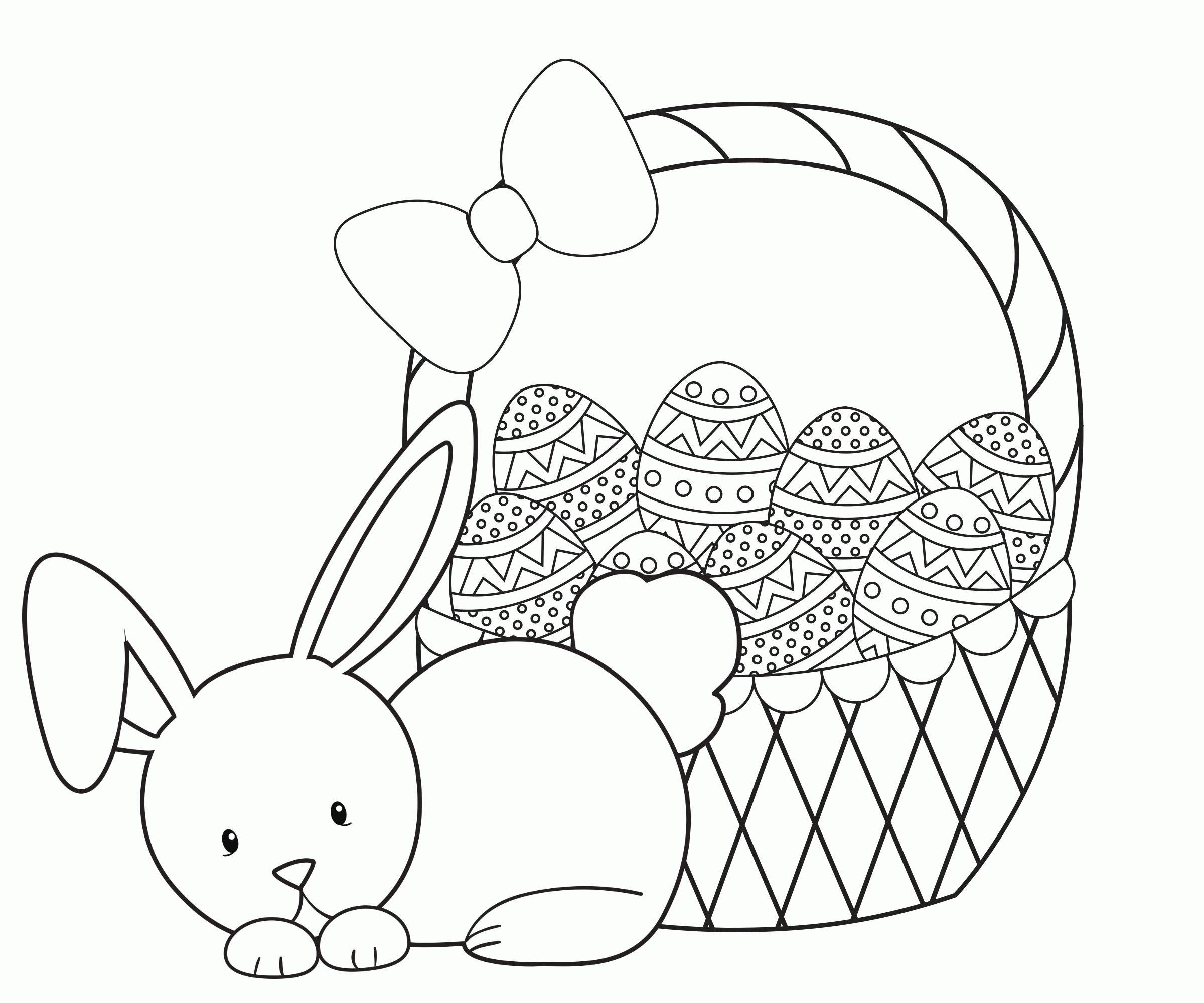 Easter Basket Printable Coloring Pages At Getdrawings