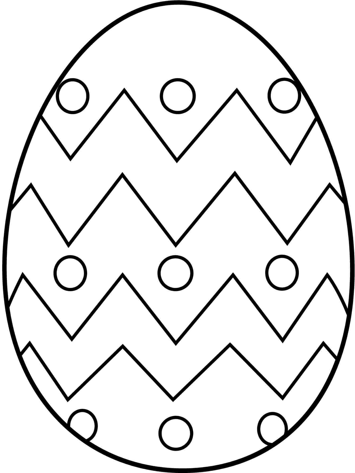 Easter Egg Coloring Pages At Getdrawings