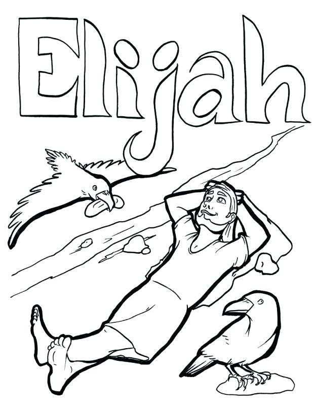 Elijah Coloring Pages For Sunday School at GetDrawings