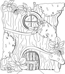 fairy coloring pages printable adult fairies template colouring mushroom drawing door stamps print tree adults google awesome printables homes doors