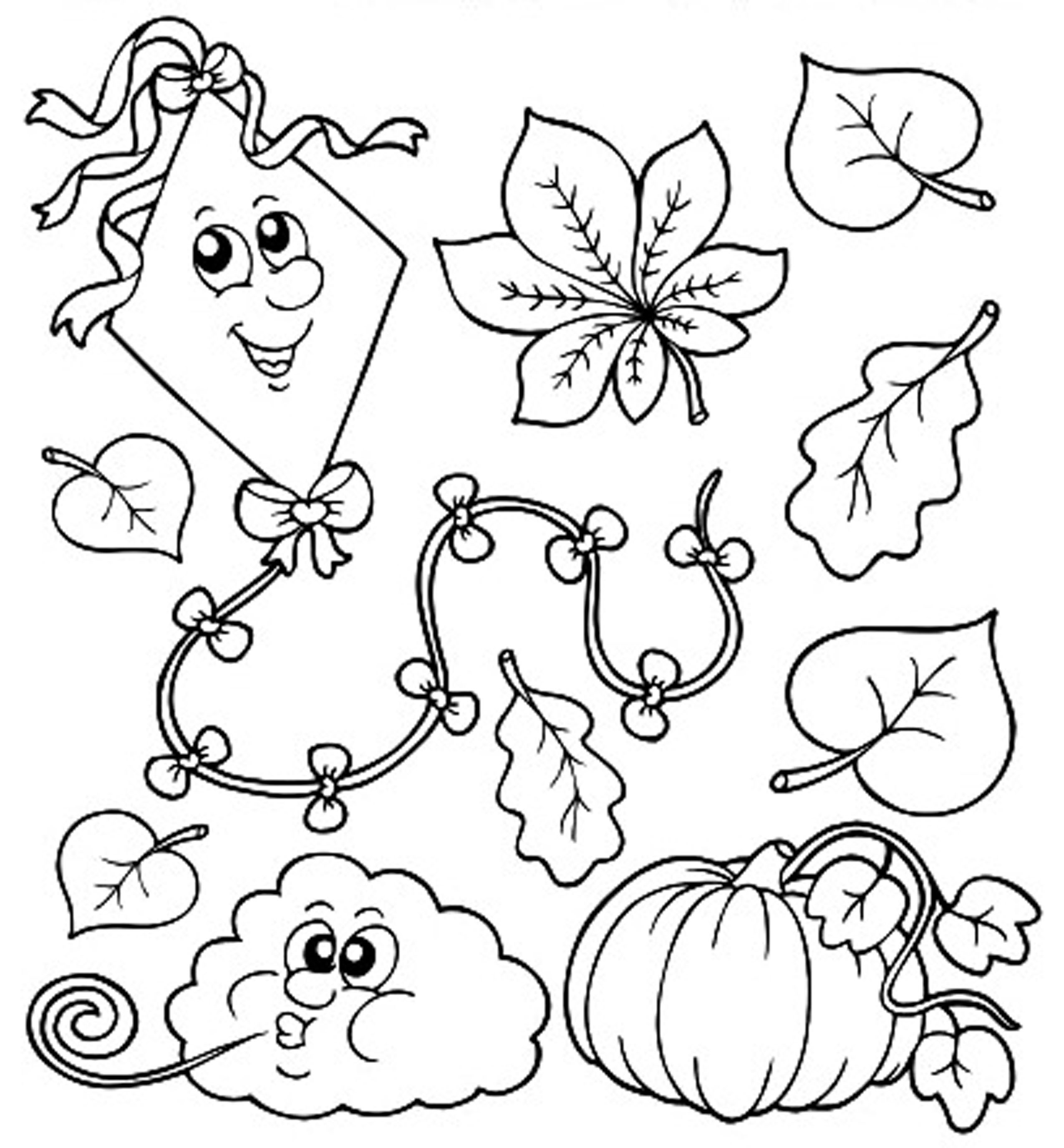 Fall Coloring Pages For Toddlers At Getdrawings