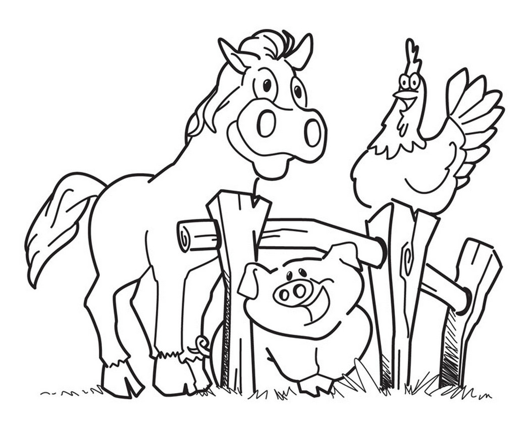 Farm Coloring Pages Free Printable At Getdrawings