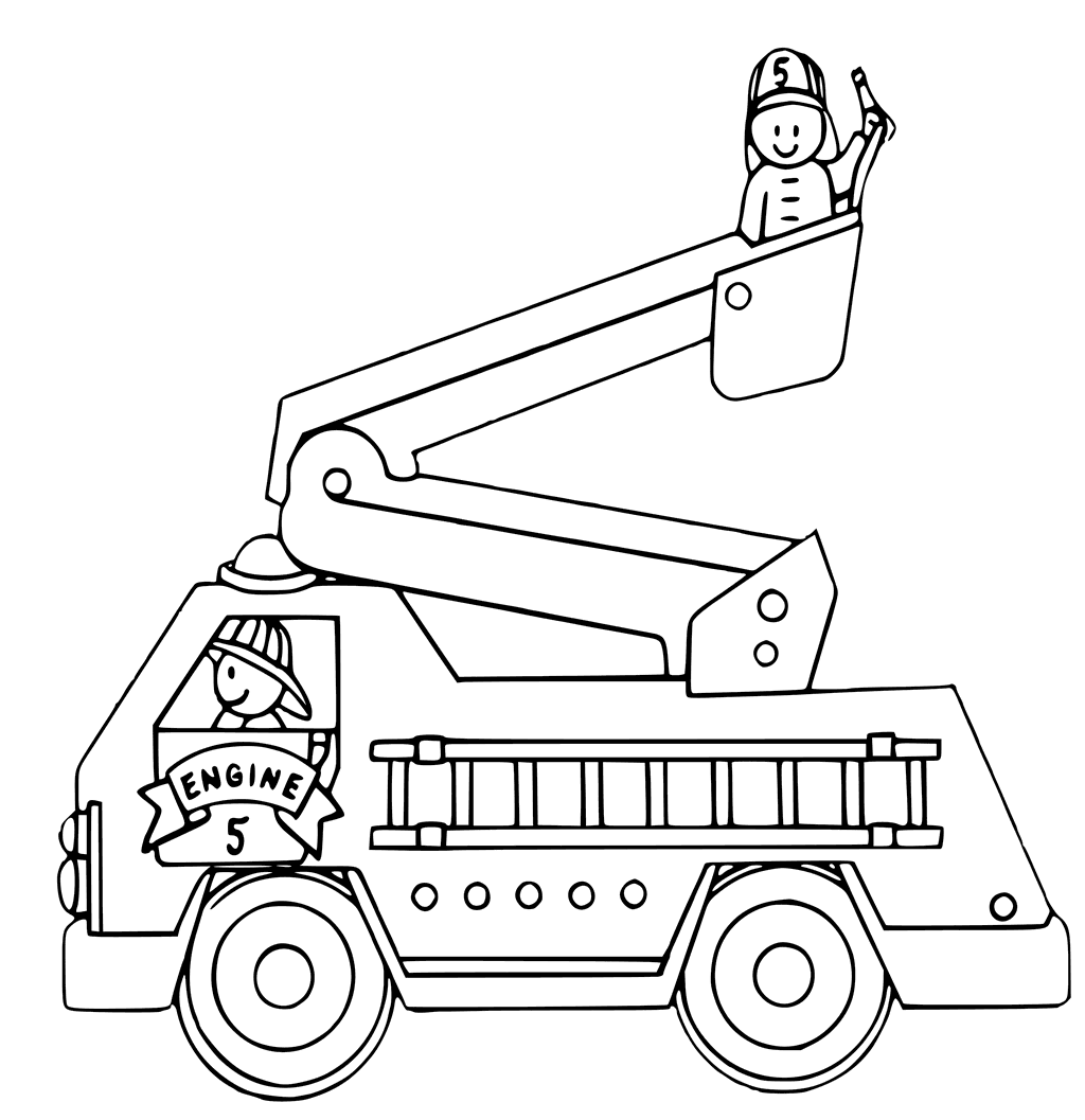 Fire Truck Coloring Page At Getdrawings