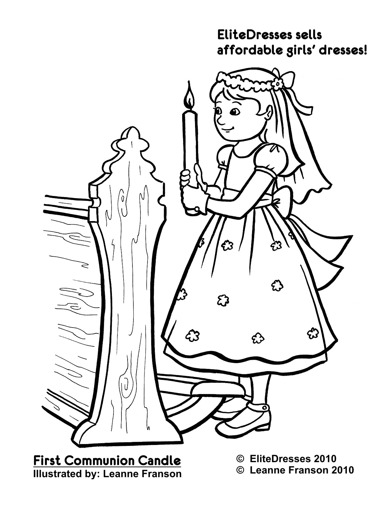 First Communion Coloring Pages Printable at GetDrawings
