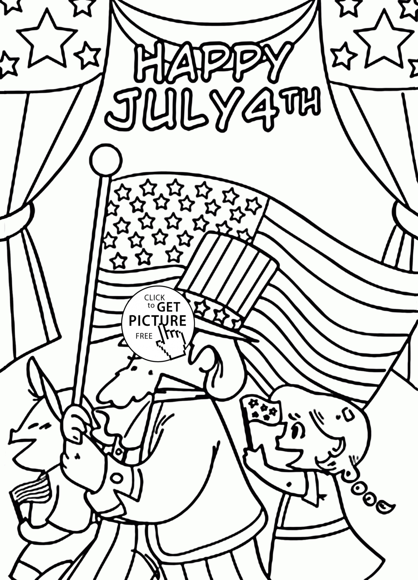 Fourth Of July Coloring Pages At Getdrawings