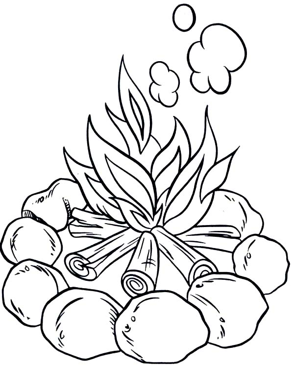 Camping Coloring Pages For Preschoolers at GetDrawings.com