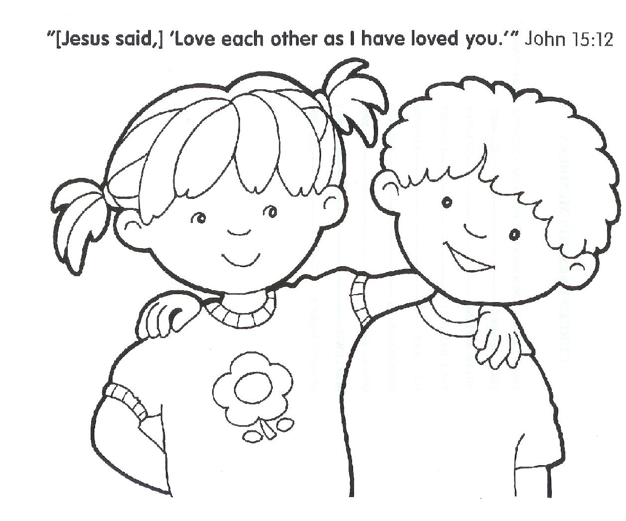 Free Christian Coloring Pages For Kids At Getdrawings