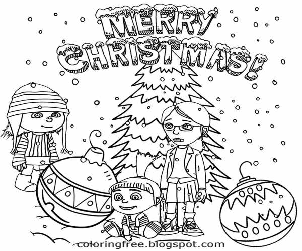 free christmas color pages # 38
