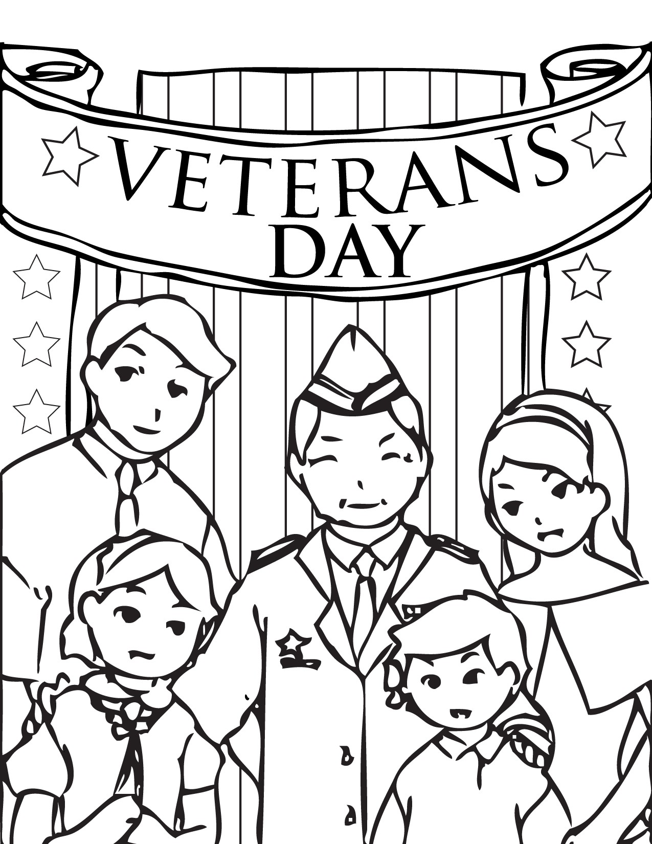 Free Coloring Pages For Veterans Day At Getdrawings