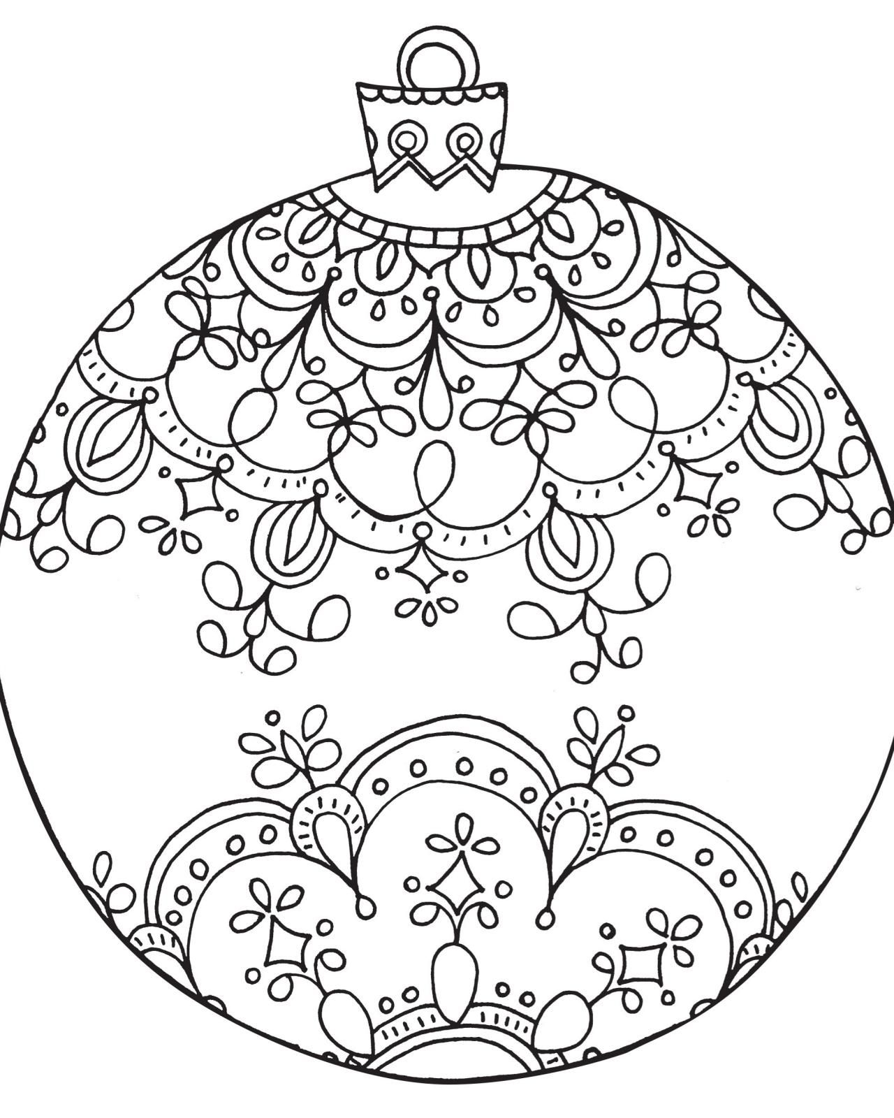 Free Holiday Coloring Pages For Adults At Getdrawings