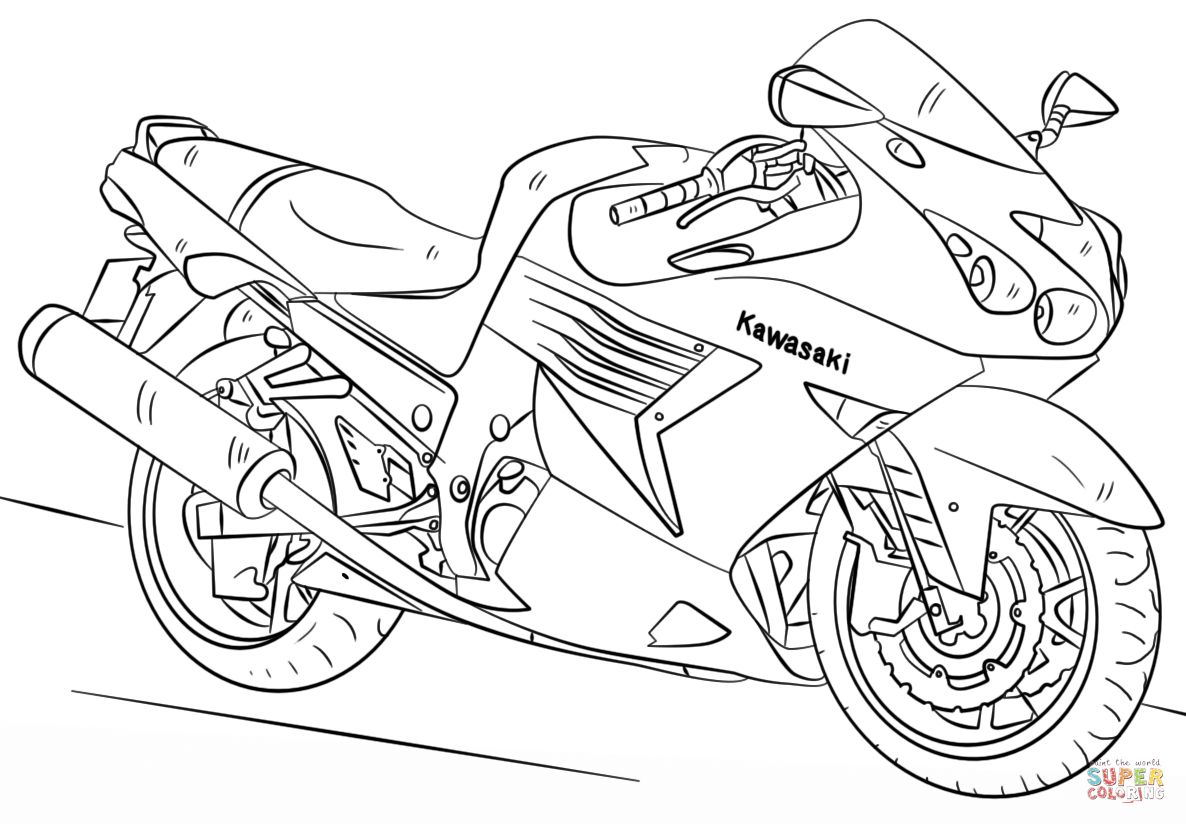 The Best Free Kawasaki Coloring Page Images Download From