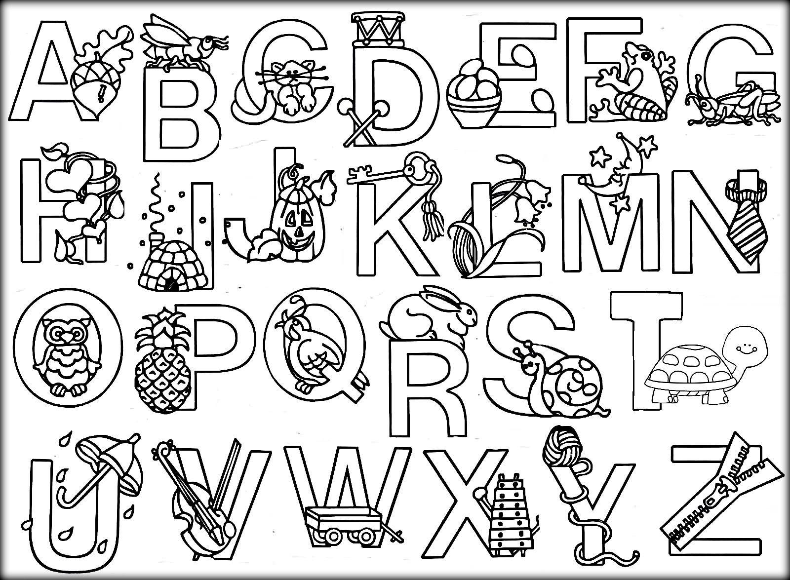 Free Printable Alphabet Coloring Pages at GetDrawings