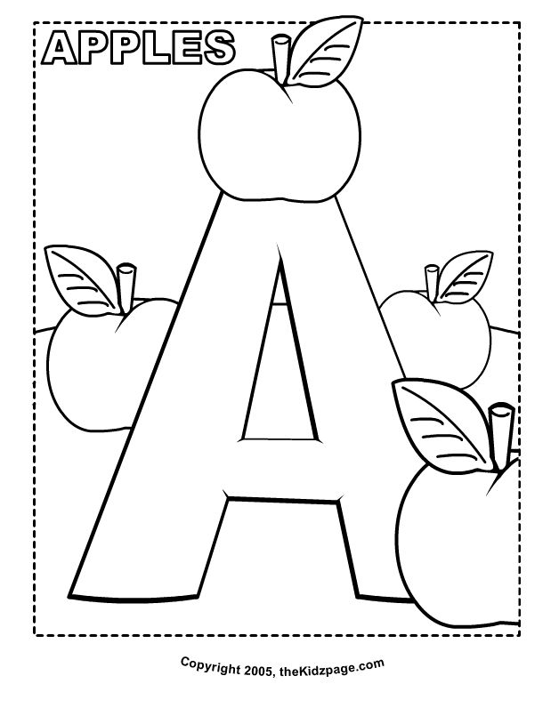 Free Printable Alphabet Coloring Pages For Toddlers at