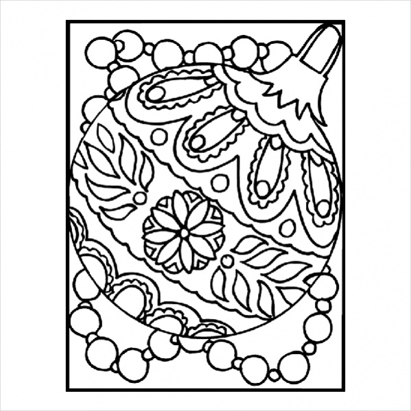 christmas ornament coloring page # 17