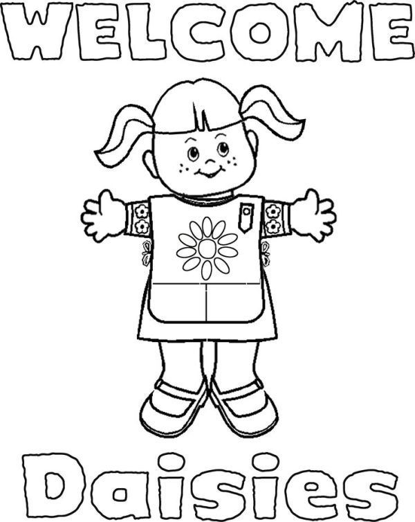 girl scout promise coloring page # 18