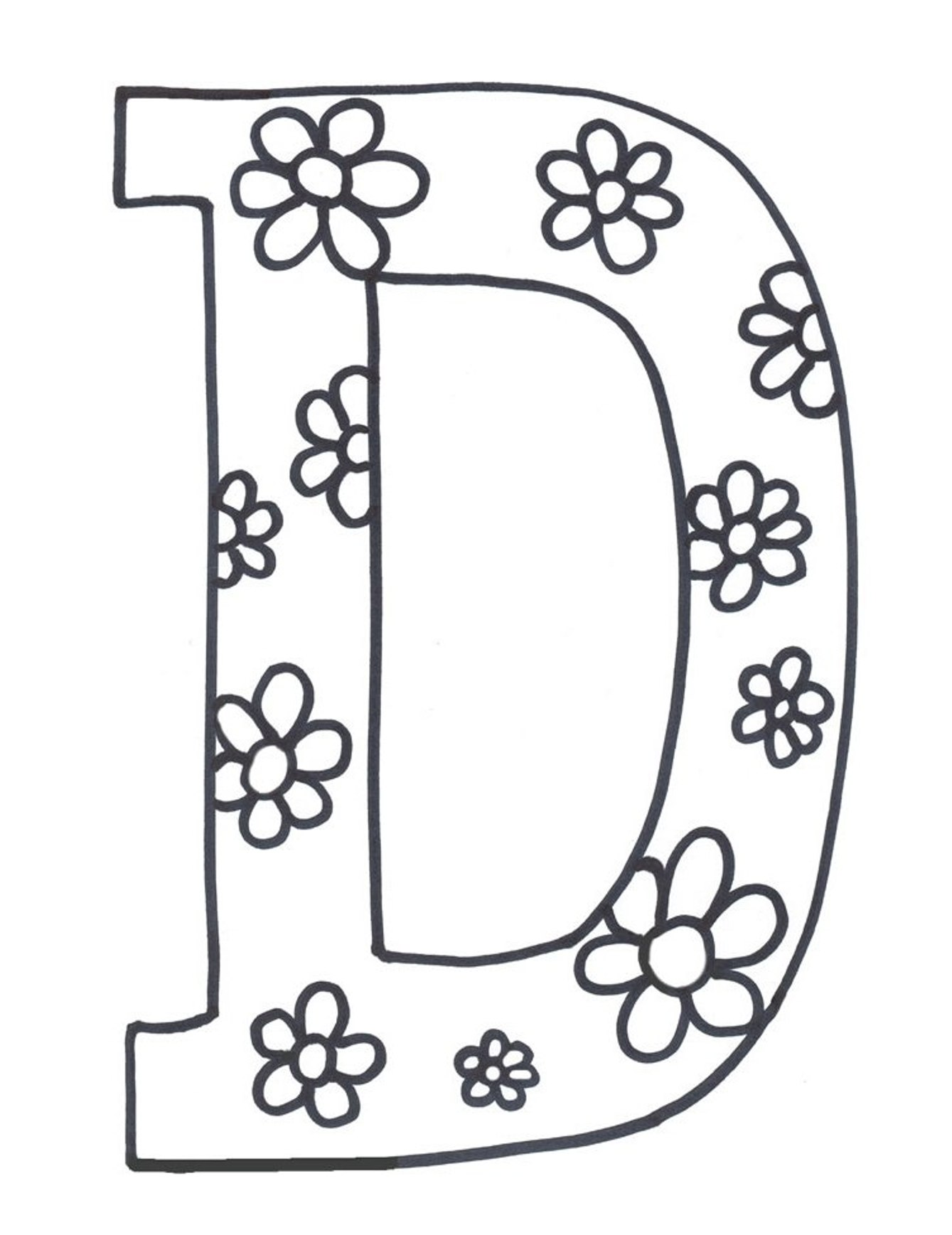 Free Printable Letter Coloring Pages at GetDrawings.com