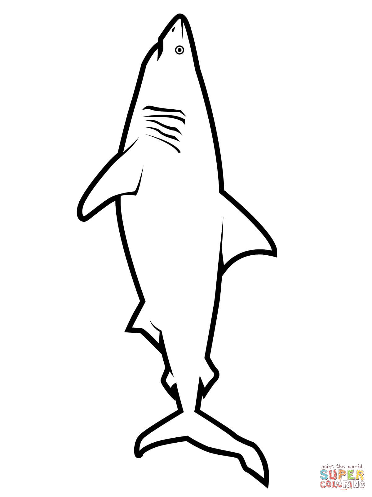 Free Printable Shark Coloring Pages at GetDrawings.com