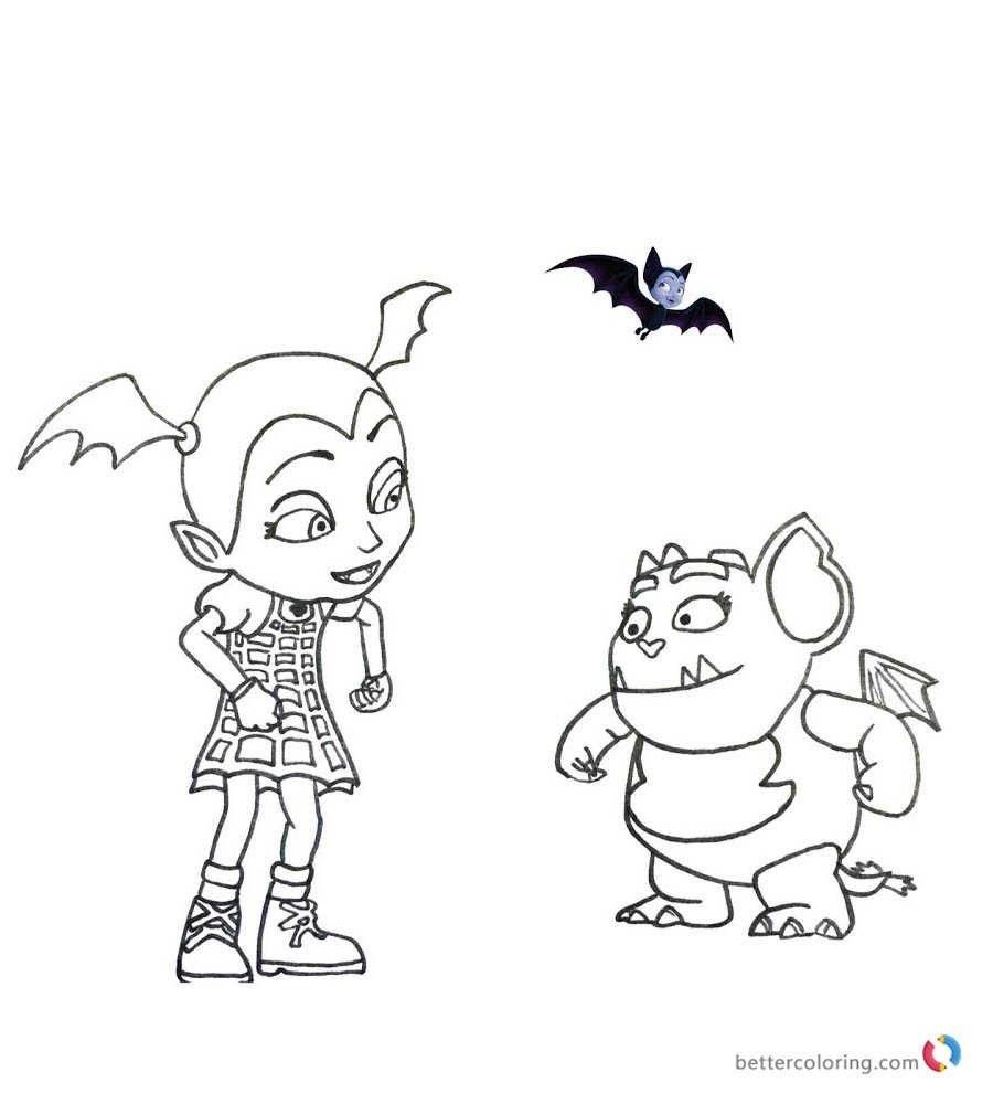Dibujos De Ninos Dibujos Para Pintar E Imprimir De Vampirina