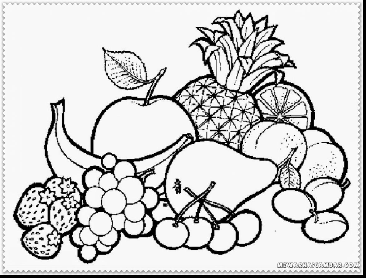 Fruits Drawing For Colouring At Getdrawings