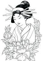 Geisha Coloring Pages at GetDrawings   Free download