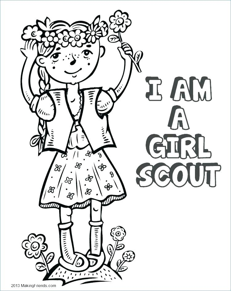 Cartoon Girl Scout Brownie Elf