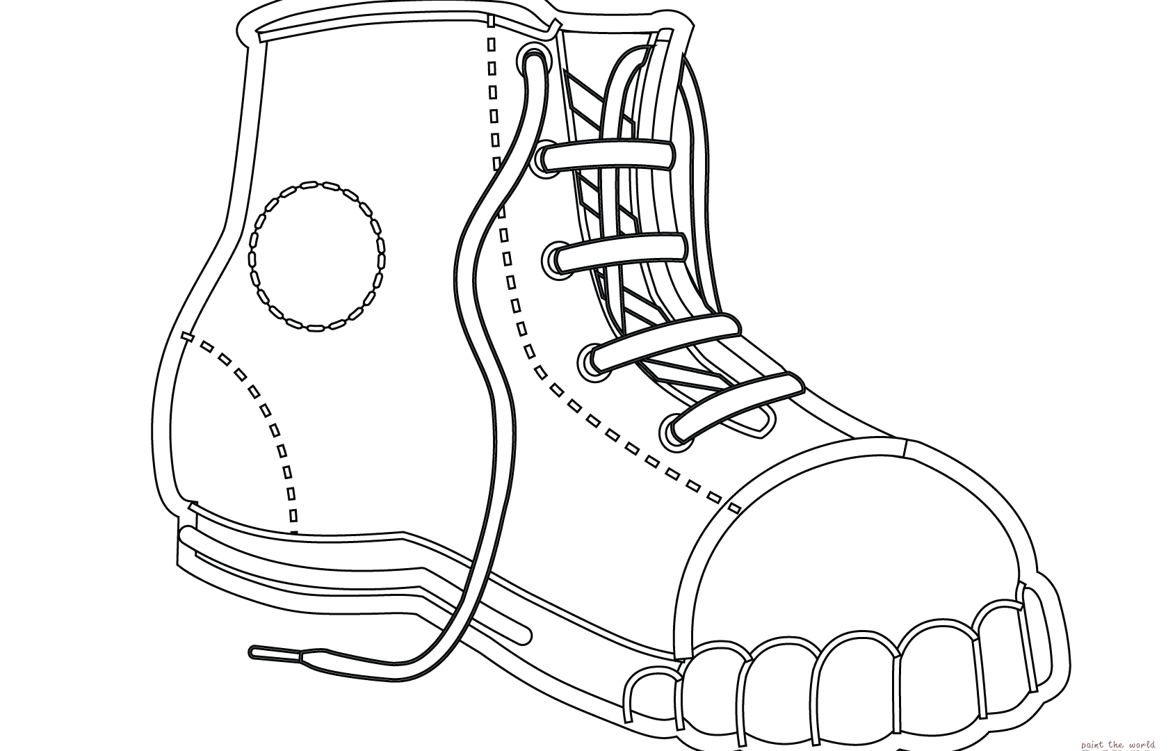 Girls Shoes Coloring Pages At Getdrawings