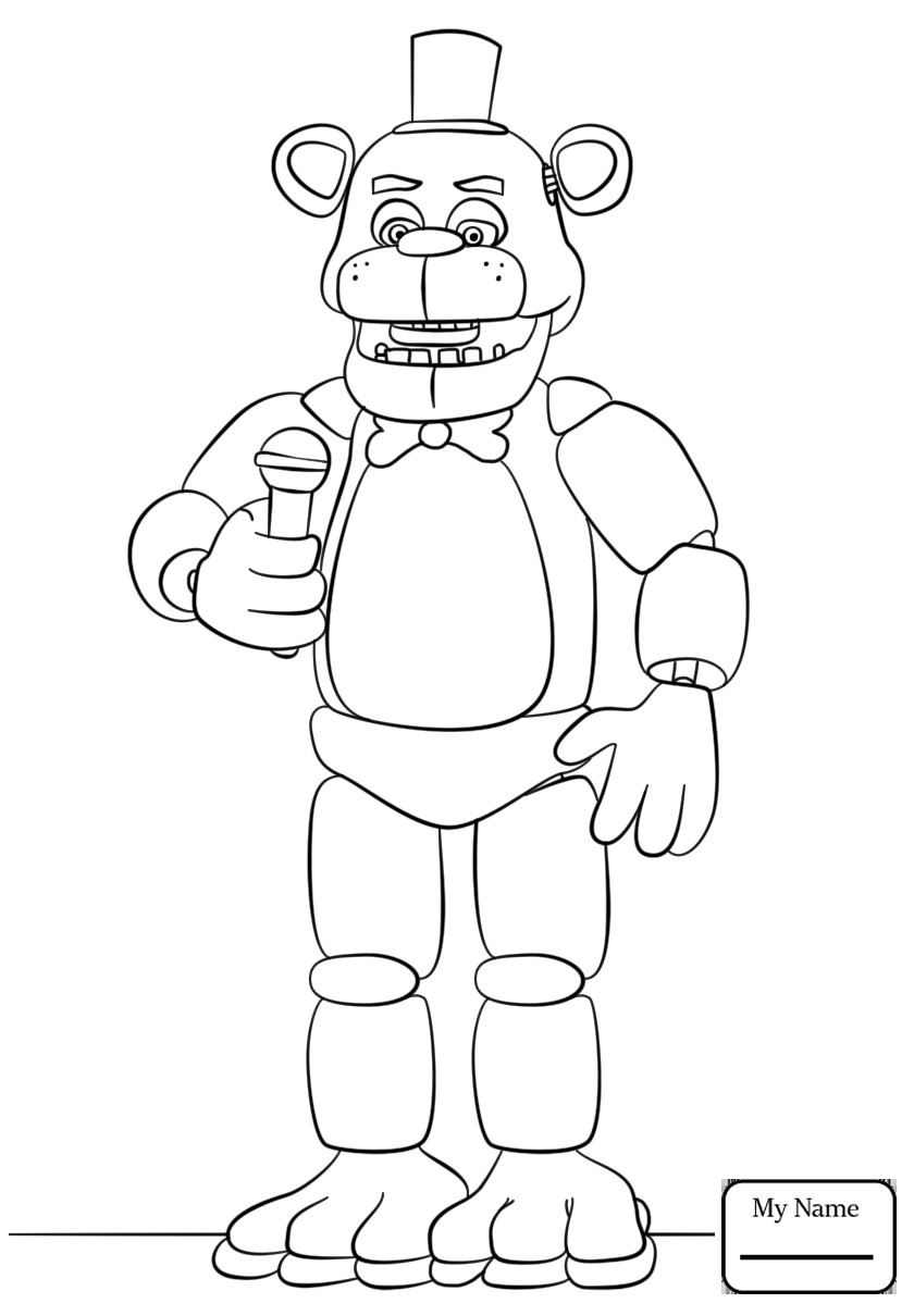 golden freddy coloring pages at getdrawings  free download