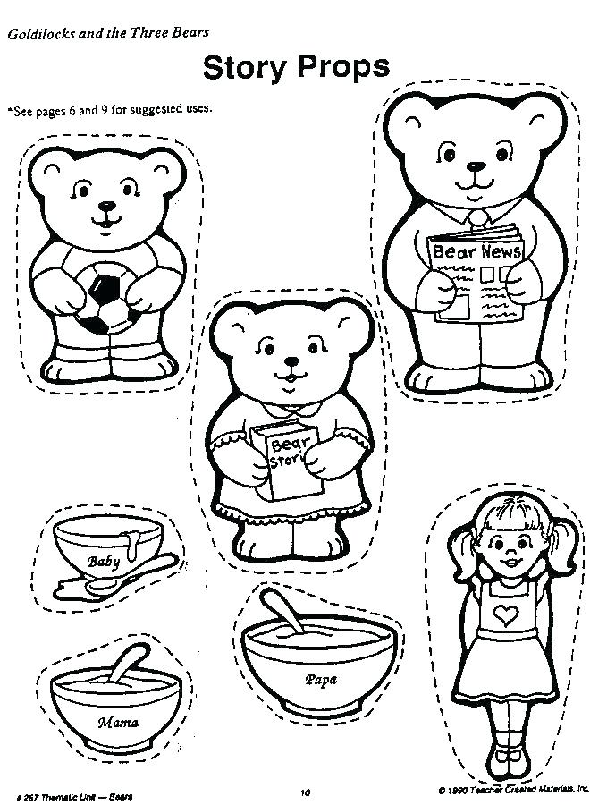 goldilocks and the three bears coloring page at