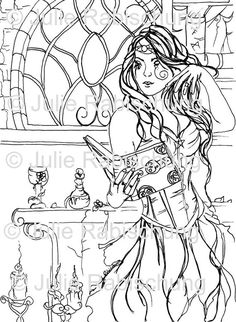gothic coloring pages # 53
