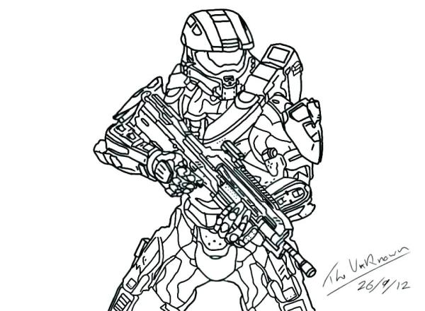 coloring pages halo # 30