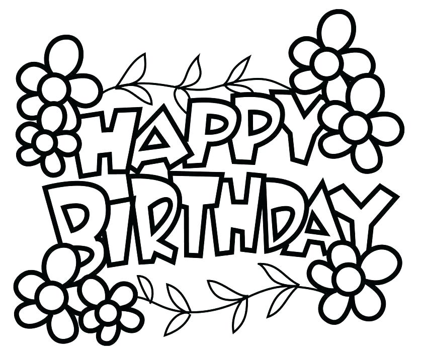 Happy Birthday Aunt Coloring Pages at GetDrawings.com
