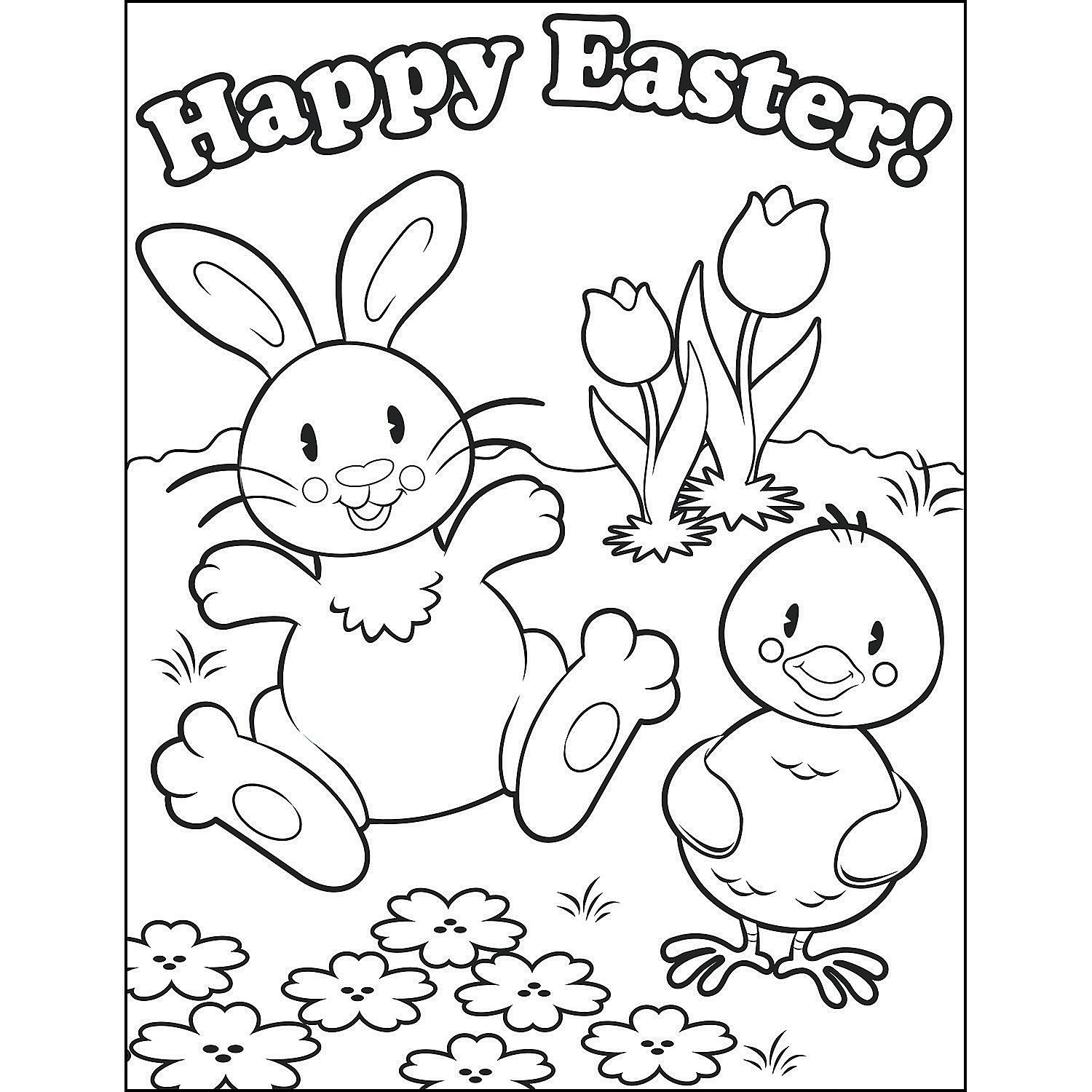 Happy Easter Coloring Pages At Getdrawings