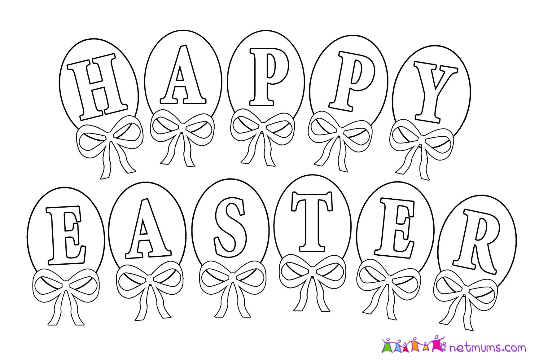 Happy Easter Coloring Pages To Print At Getdrawings