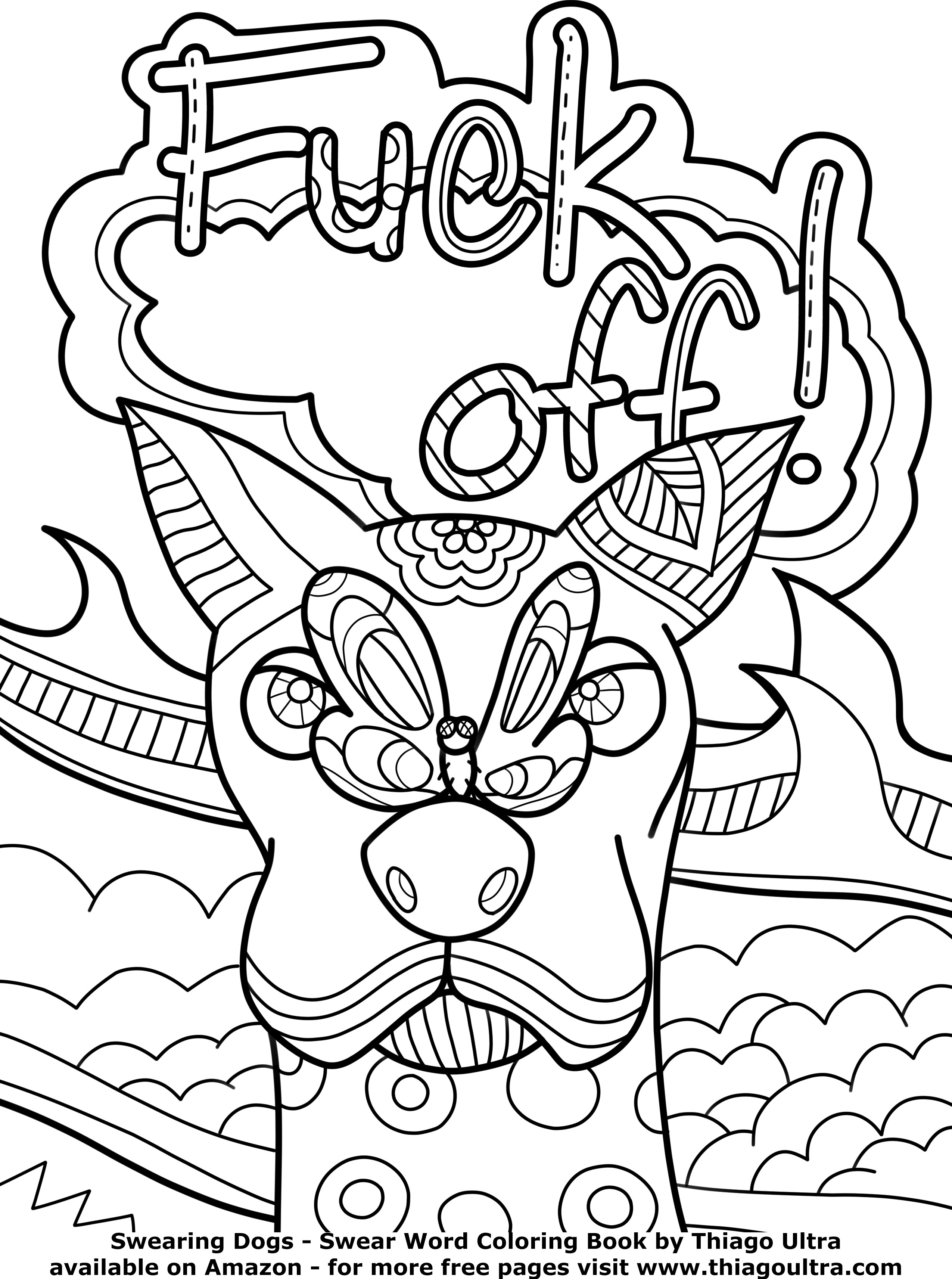 Hard Dog Coloring Pages At Getdrawings