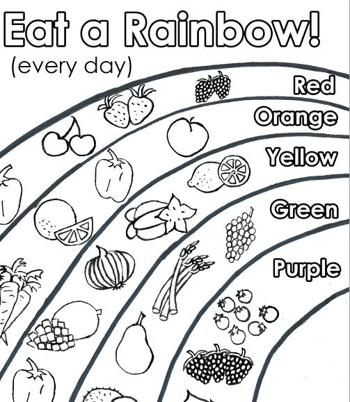 healthy food coloring pages # 36