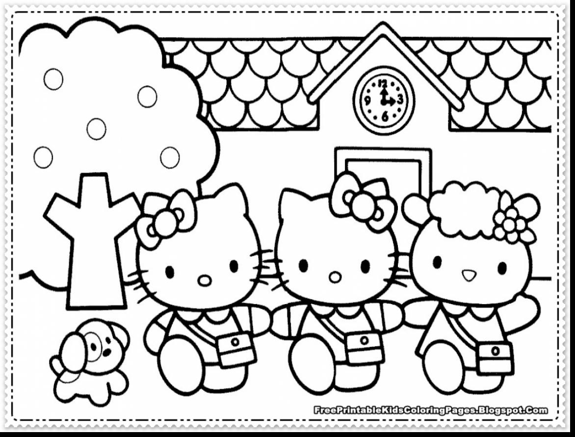 Hello Kitty Coloring Pages At Getdrawings
