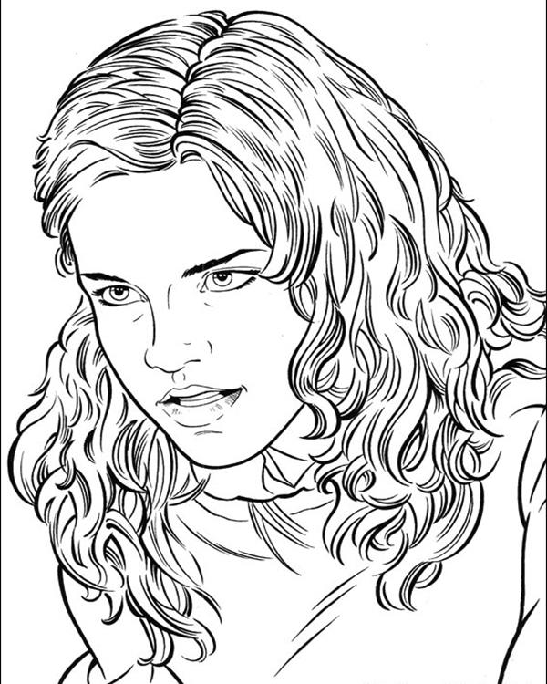Hermione Granger Coloring Page : hermione, granger, coloring, Hermione, Granger, Coloring, Pages, GetDrawings, Download