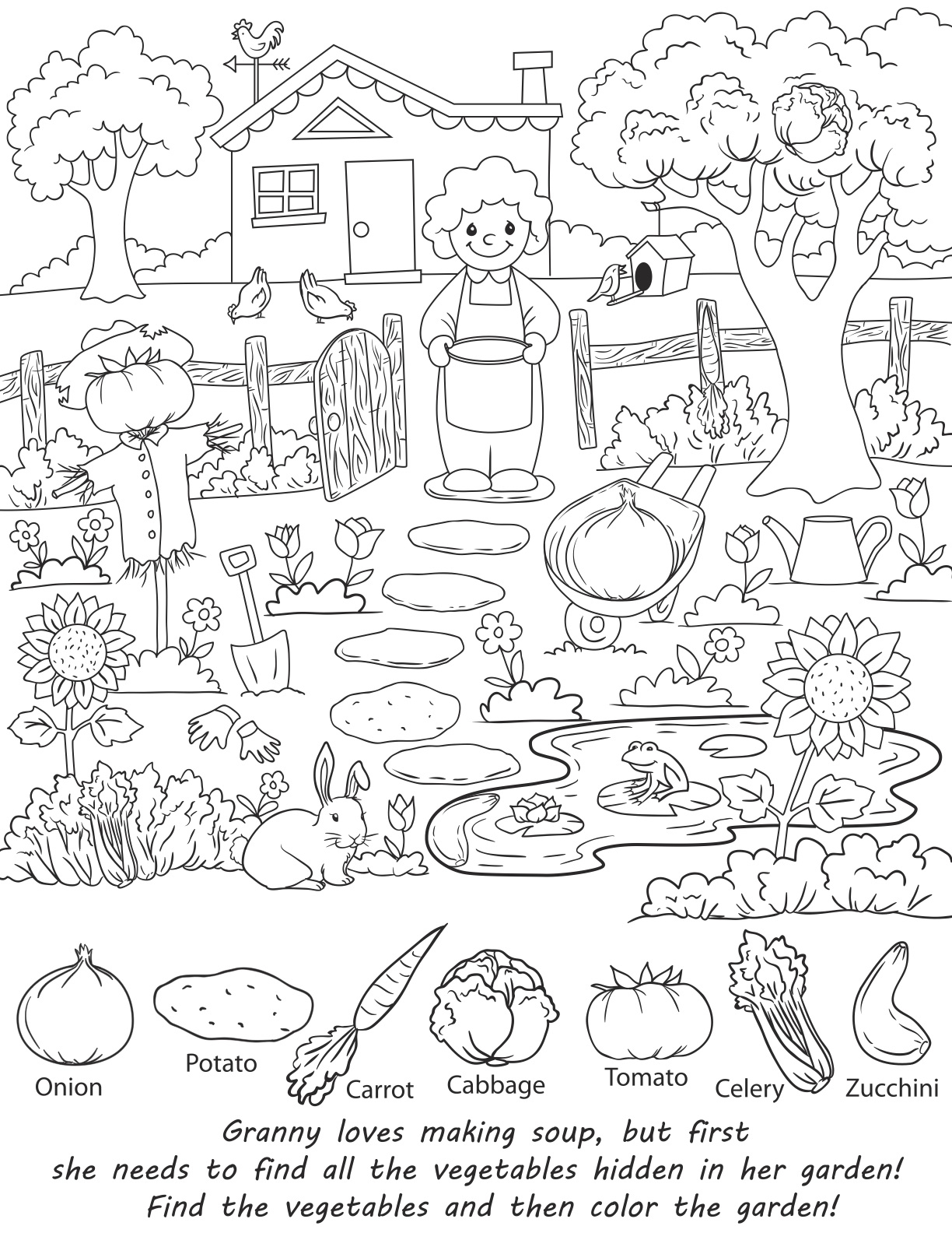 Hidden Coloring Pages At Getdrawings