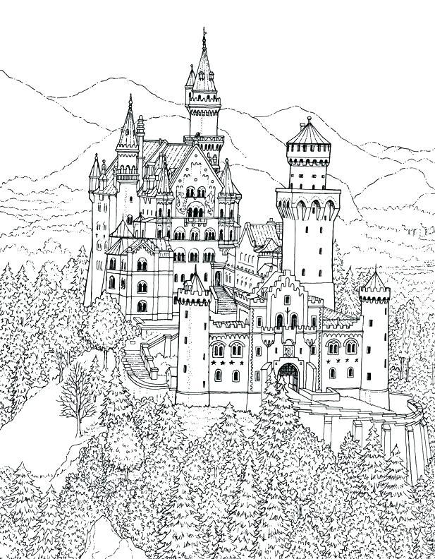 Hogwarts Castle Coloring Pages : hogwarts, castle, coloring, pages, Hogwarts, Castle, Coloring, GetDrawings, Download