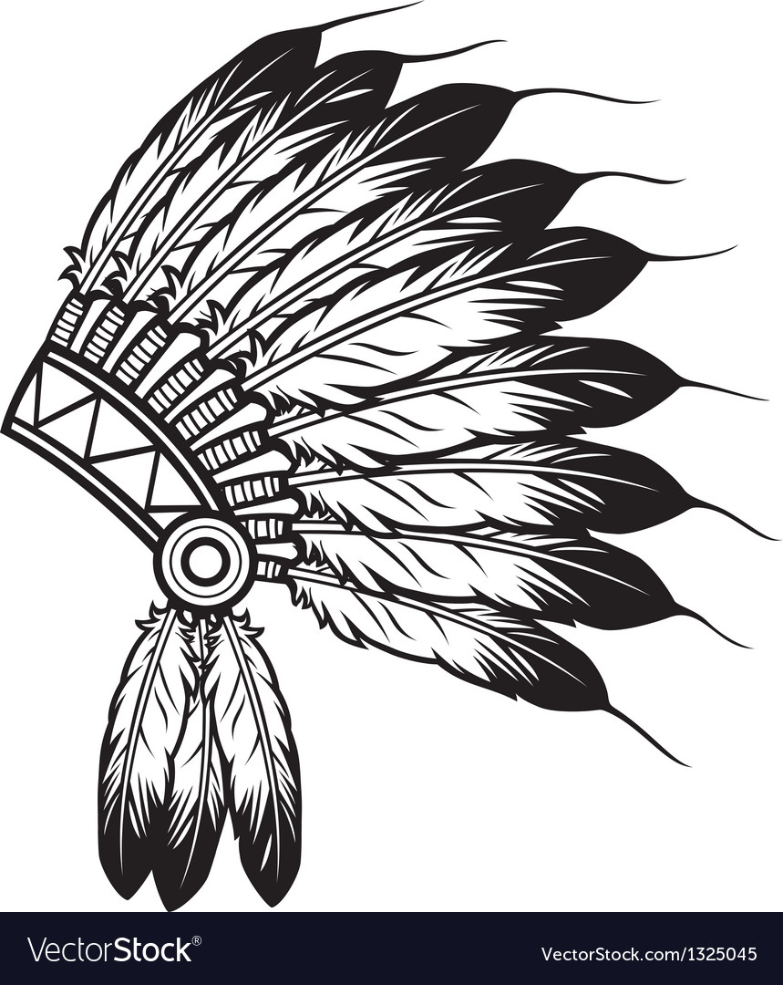 hight resolution of indian feathers coloring pages