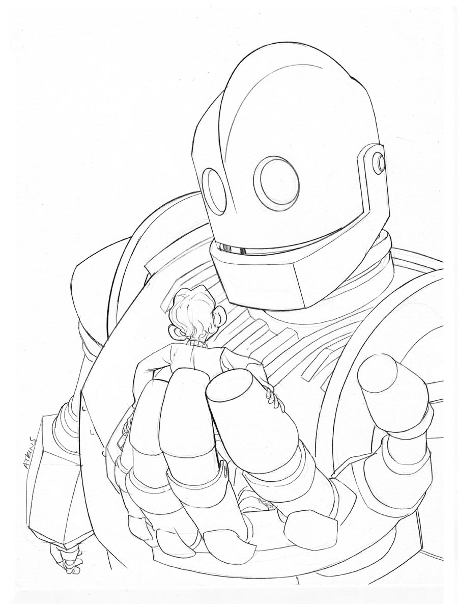 Iron Giant Coloring Page : giant, coloring, Giant, Coloring, GetDrawings, Download
