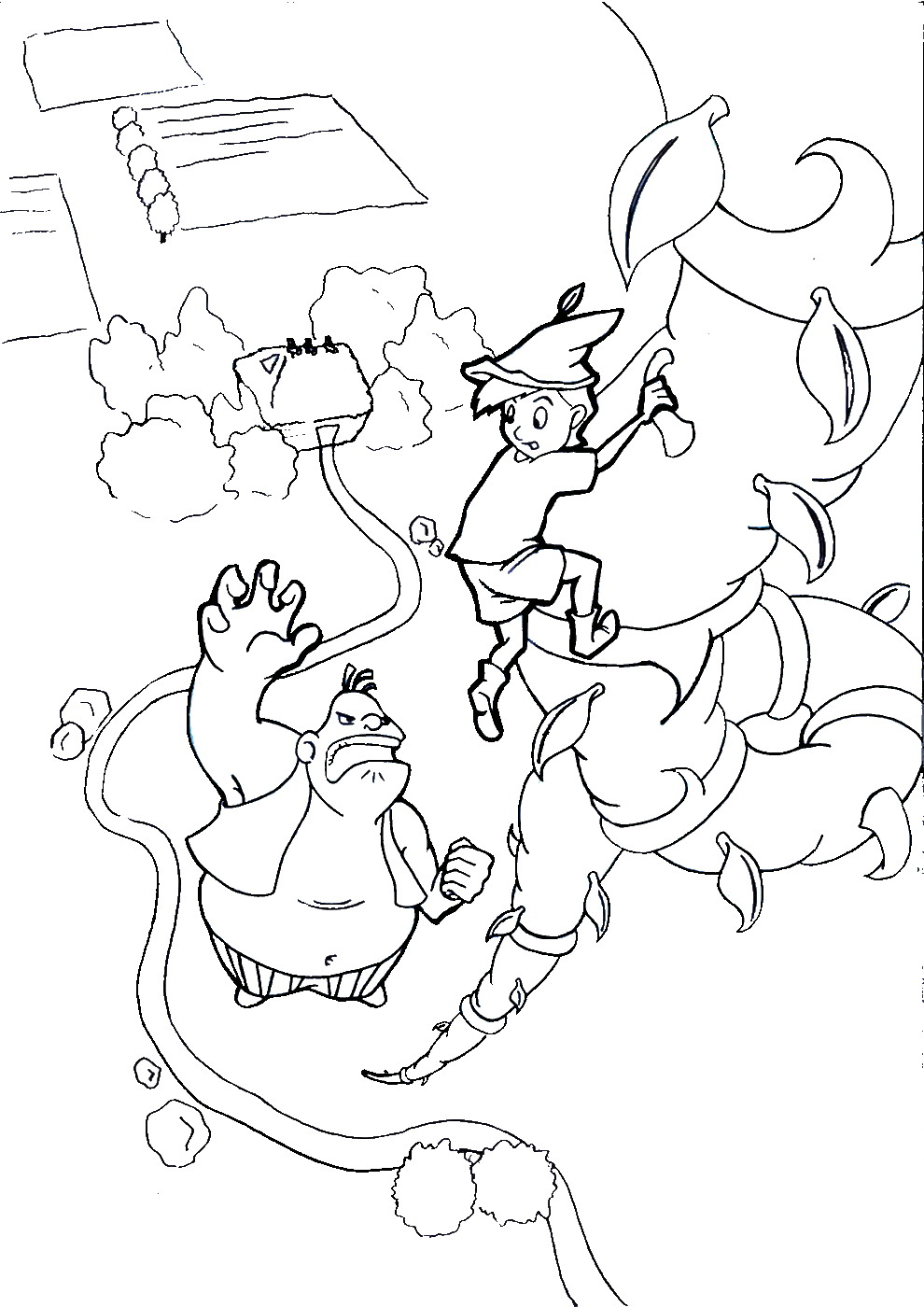 The best free Beanstalk coloring page images. Download