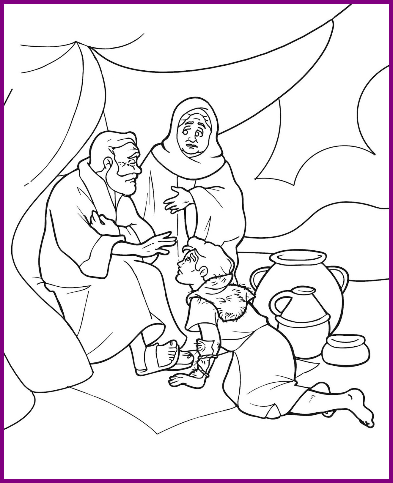 Jacob And Esau Coloring Pages Printable At Getdrawings