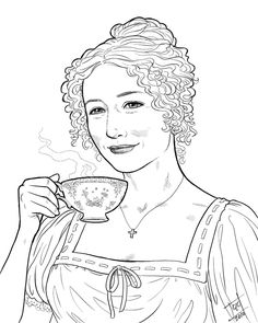 The best free Austen coloring page images. Download from