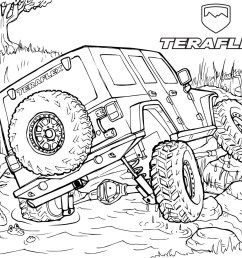jeep wrangler coloring pages [ 1396 x 1080 Pixel ]