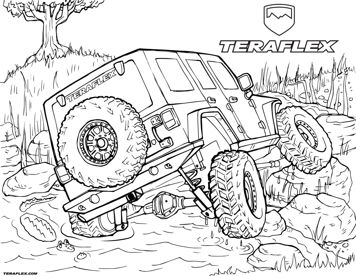 hight resolution of jeep wrangler coloring pages