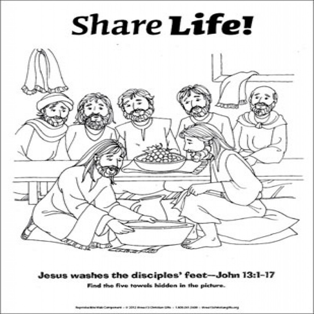 Jesus And His Disciples Coloring Pages at GetDrawings